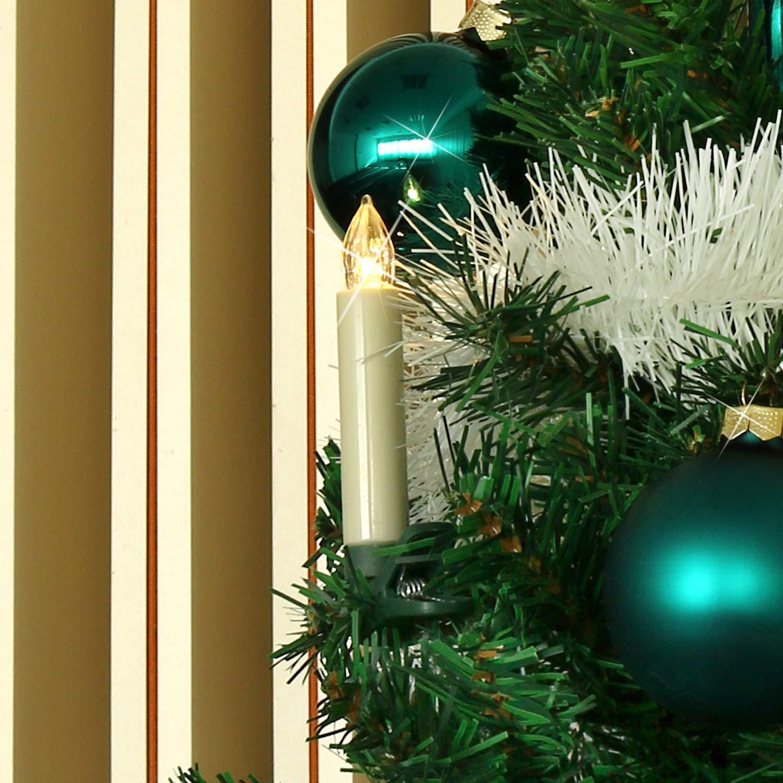 led lichterkette mit 10 kerzen kabellos mit fernbedienung. Black Bedroom Furniture Sets. Home Design Ideas