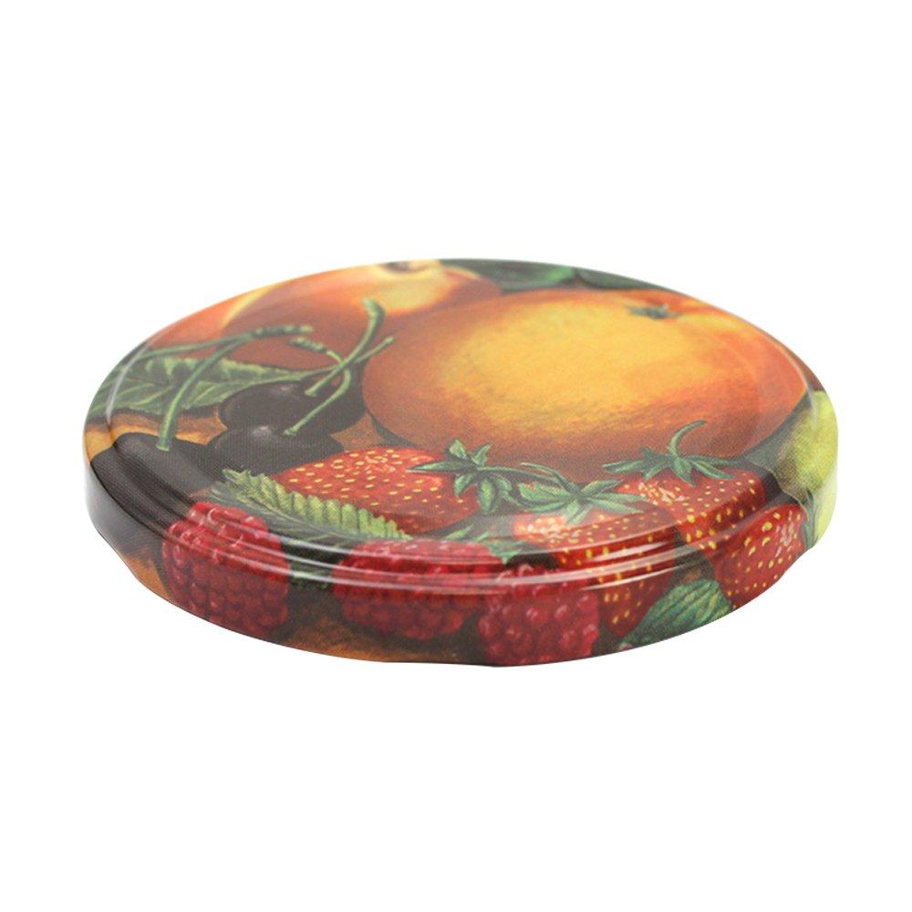 20x ersatzdeckel obst deckel f r sturzgl ser marmeladengl ser to 82 mm ebay. Black Bedroom Furniture Sets. Home Design Ideas