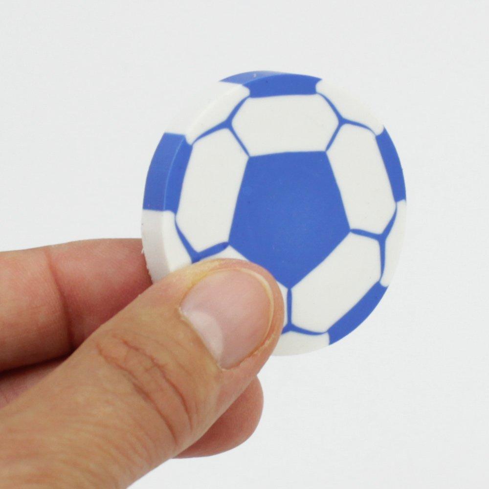 ideal als Mitgebsel oder für die Schultüte 4,5 cm 15x Radiergummi Fußball