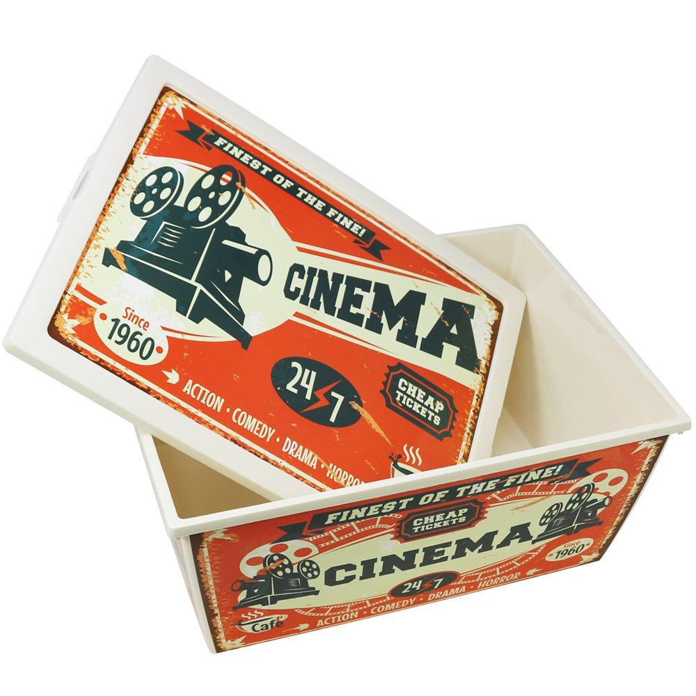 gro e aufbewahrungsbox cinema mit deckel im retro vintage shabby design ebay. Black Bedroom Furniture Sets. Home Design Ideas