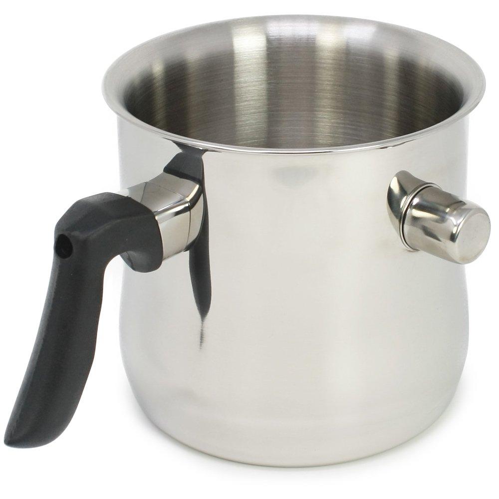 Edelstahl Simmertopf Milchtopf Wasserbadkocher doppelwandig 1 Liter