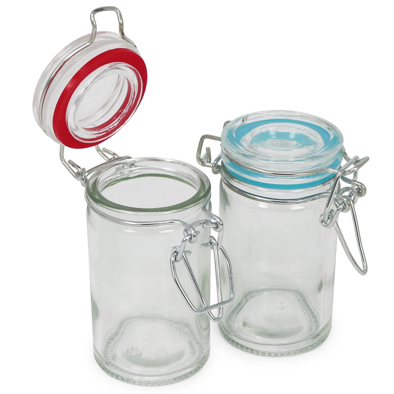 4x einmachglas mit b gelverschluss drahtb gelglas mit gummiring 60 ml 4251285551633 ebay. Black Bedroom Furniture Sets. Home Design Ideas