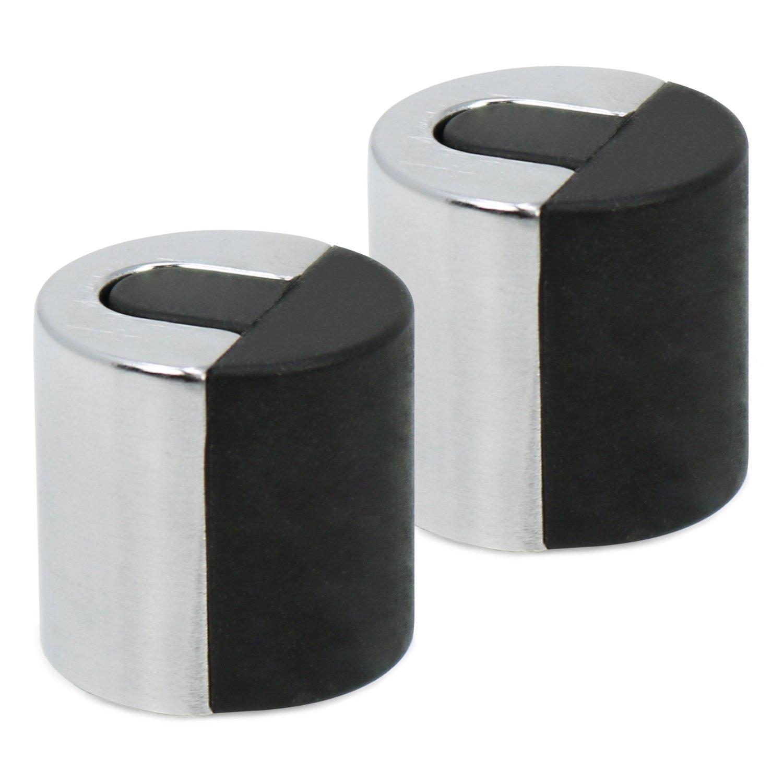 2,5 x Ø 4,5 cm 4x Türstopper aus Zink mit Scandiumlegierung und Gummipuffer