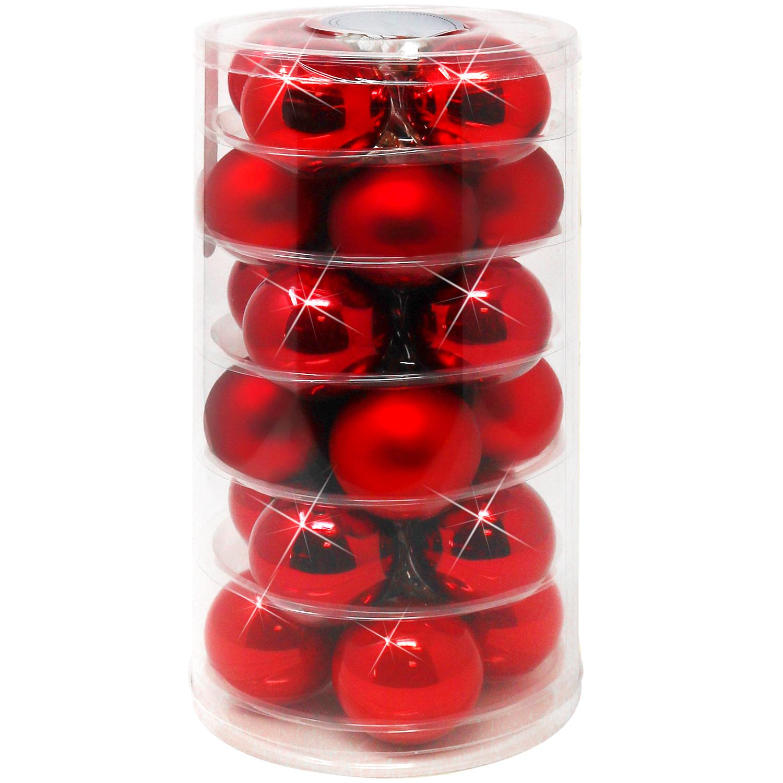 Christbaumkugeln Rot Glänzend.Details Zu 24 Weihnachtskugeln In Rot Glänzend Und Matt Aus Echtem Glas ø 6 Cm