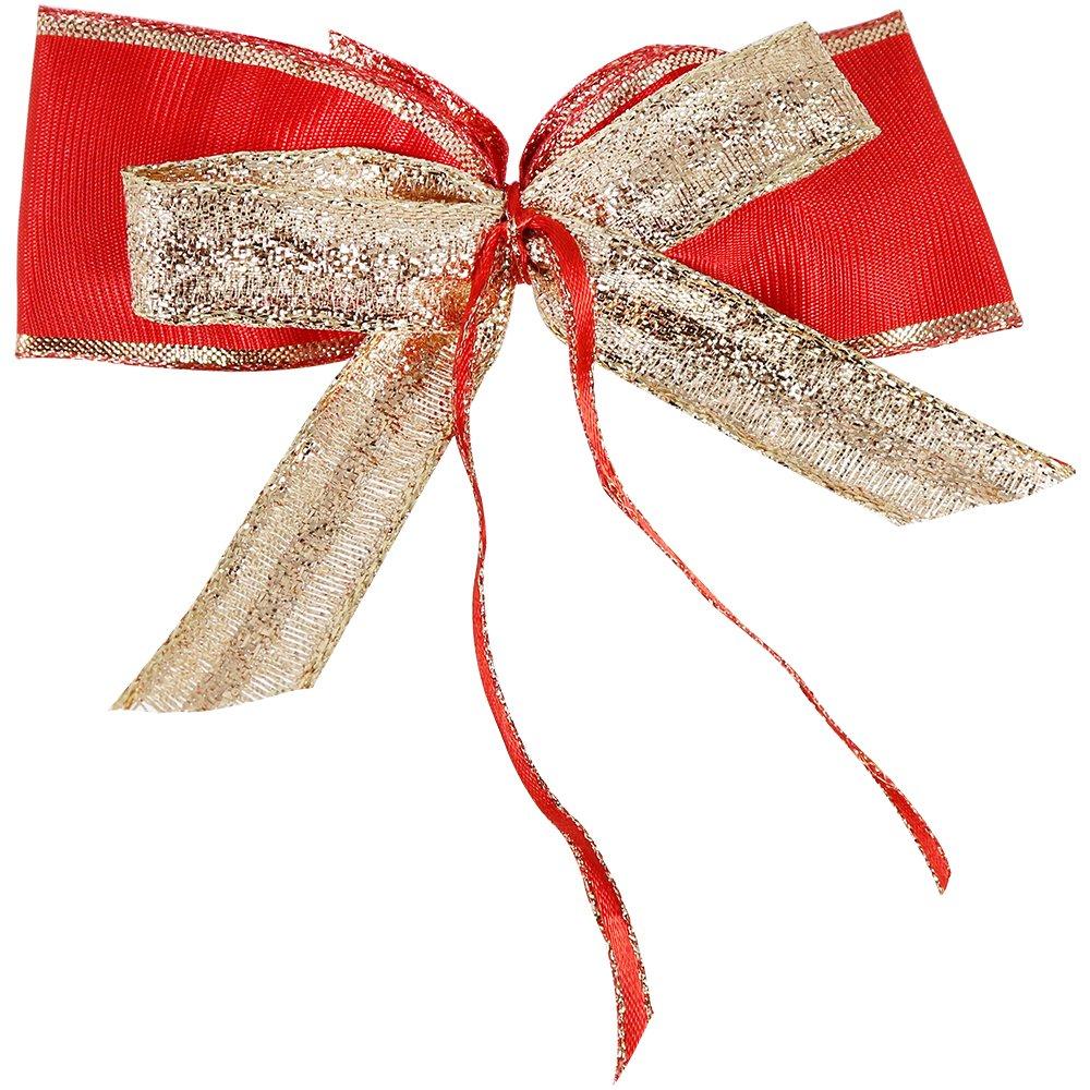 12 cm 16x große Geschenkschleifen in rot zum Dekorieren und Verpacken